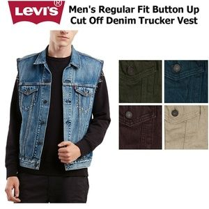 Levi's Jackets & Coats - Levi's Purple Men's Regular Fit Trucker Vest
